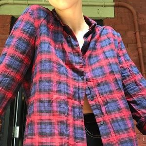 Zara Trafaluc Flannel Blouse